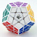 DaYan Megaminx Plastic with Corner Ridges Magic Cube White  Educational Brain Teaser Twist Puzzle Toys for Children cubo magico