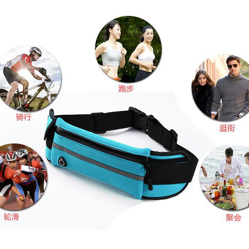 New Outdoor Running Waist Bag Waterproof Mobile Phone Holder Belt Belly Bag Women Gym Fitness Bag Gym cycling bicycle Ba