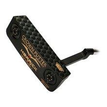 Clubes de golfe putter masculino/feminino ajuste livre peso preto eixo de aço inoxidável