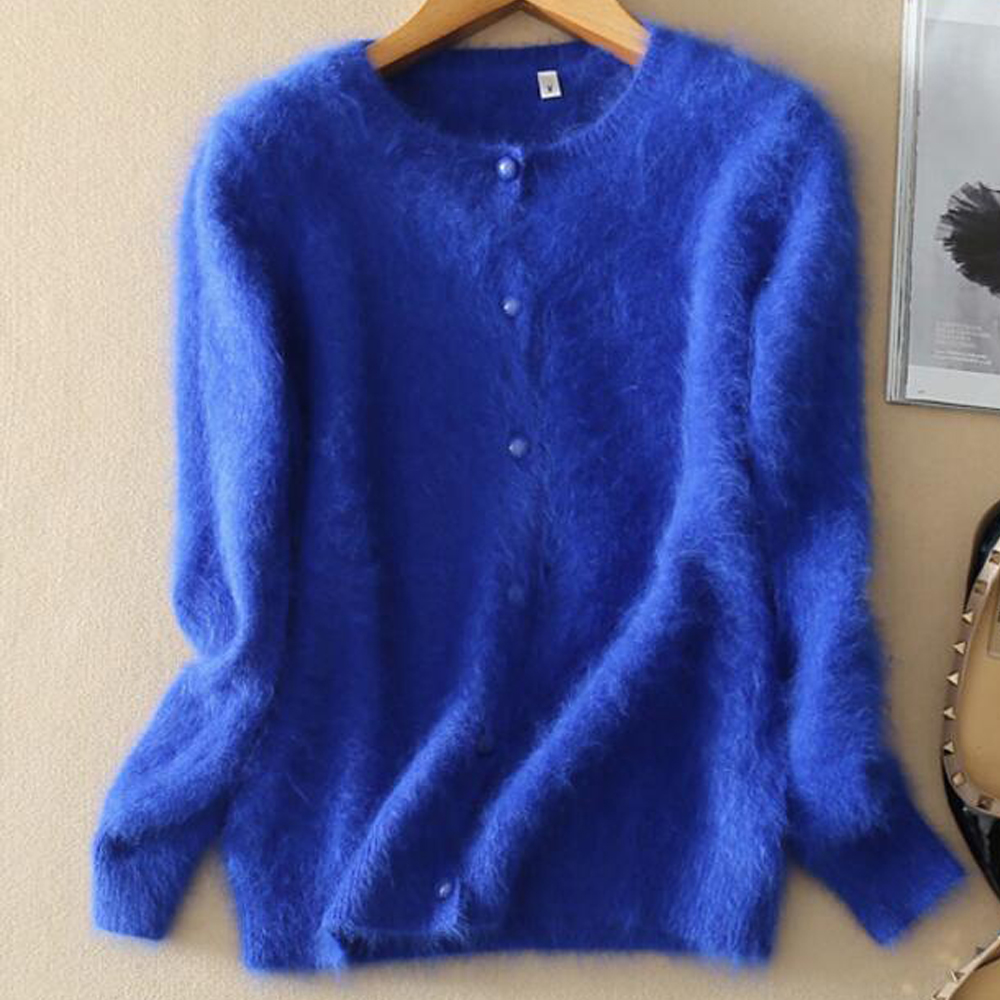 2019 New Free Shipping Women Real Mink Cashmere Sweater Good Handfeel Long Hair True Mink Cashmere