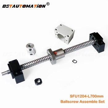 SFU1204 Ballscrew 700mm ball screw SFU1204 Ballnut BK10 BF10 Support 22mm Nut Housing Bracket 6.35mm x 8mm Flexible Coupler