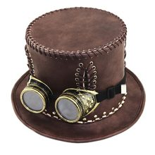 Corzzet Cổ Điển Victoria tại Punk Steampunk Lolita Cosplay Hat Spike Fedoras Hat Halloween Cosplay(China)