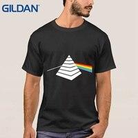 מעניין פירמידת פלויד ורוד חולצת טריקו שחור כהה צד סיור 1972 עלי בציר בגדי חולצות T מותג גברים צוואר O-100% כותנה