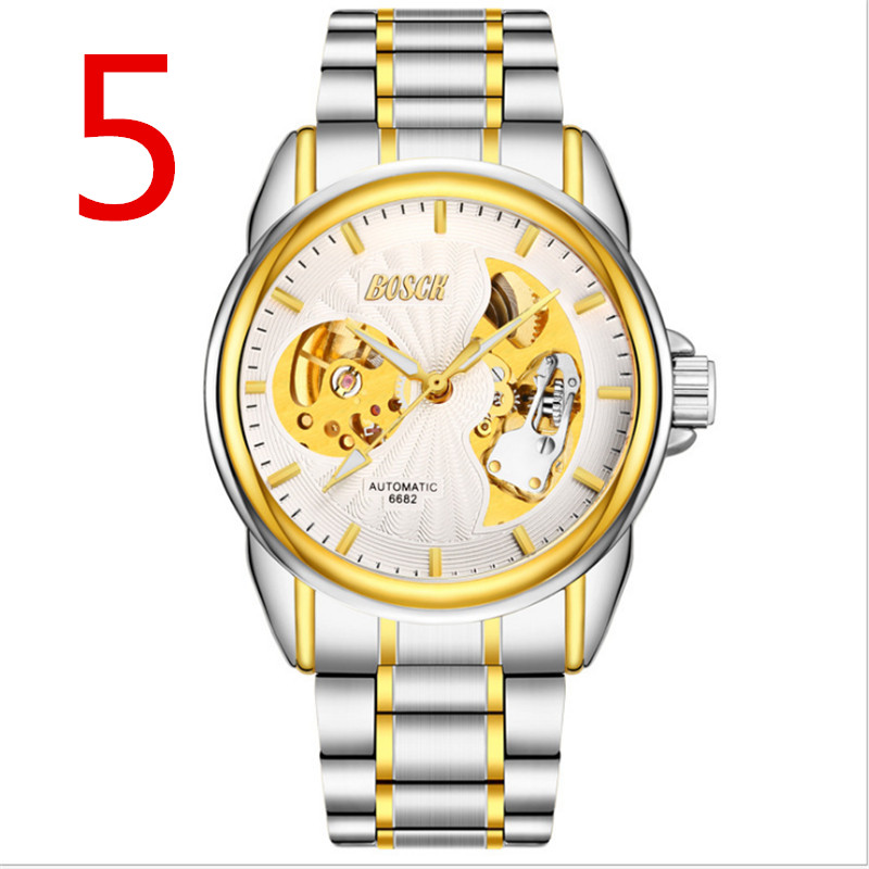 zou's Luxury Men Watch Full Stainless Steel Gold Quartz Watch Famous Brand Men's Gold Wristwatch Waterproof Calendar Clock1