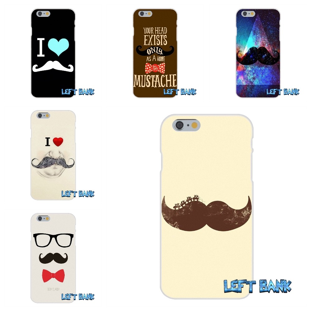 Moustache beard ustache mustache Soft Silicone TPU Transparent Cover Case For iPhone 4 4S 5 5S 5C SE 6 6S 7 Plus