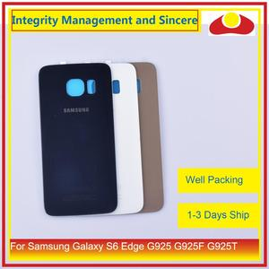 Image 2 - 50Pcs/lot For Samsung Galaxy S6 Edge G925 G925F G925T Housing Battery Door Rear Back Glass Cover Case Chassis Shell Replacement