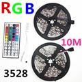 10M 5M RGB LED Strip 5050 3528 set with IR Remote Controller DC12V SMD 60leds/M non waterproof 10M 600 LEDs RGB tape LED Ribbon