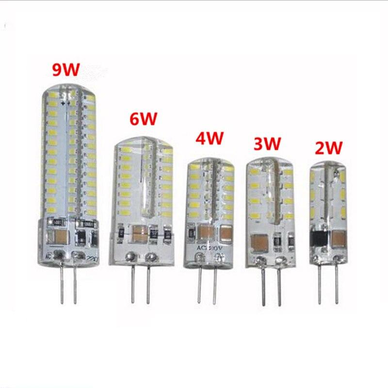 G4 LED Bulb AC220V Warm/Cold White 2W 3W 4W 6W 9W Chandelier Light 360 Beam Angle Replace Halogen Lamp