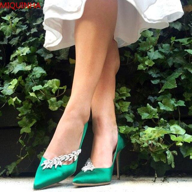 Smeraldo Chic Verde In Pumps Donne Nadira Raso A Scarpe Jeweled OSwqdw5