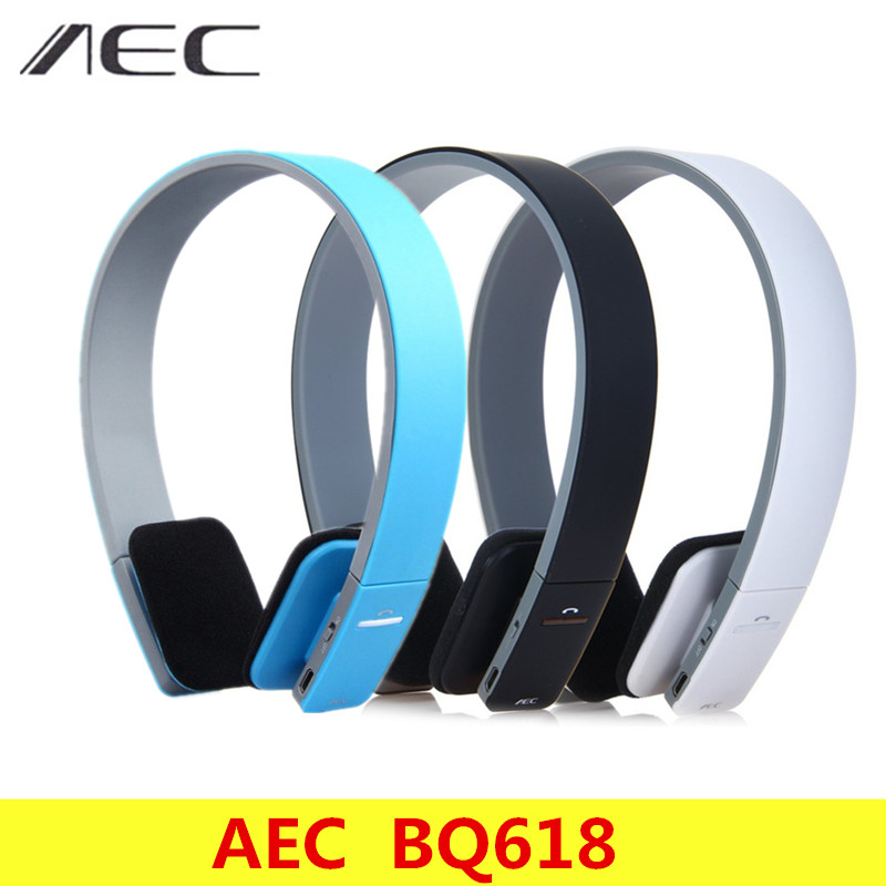 AEC BQ618 Wireless Smart Bluetooth Stereo Headset With MIC Support 3.5mm Audio headband Hands-free Headphone for Phone Tablet new new bluetooth music soft warm beanie hat with stereo headset speaker mic headphone wireless hands free cap