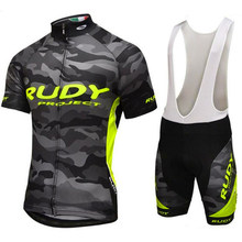 2019 Team Cycling Jersey Set Summer Mens Cycling set Racing Bicycle Clothing Suit Breathable Mountain Bike Clothes Sportwears(China)