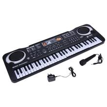 61 клавишная Цифровая Музыкальная электронная клавиатура, клавишная доска, Электрический пианино, детский подарок, штепсельная вилка европейского стандарта