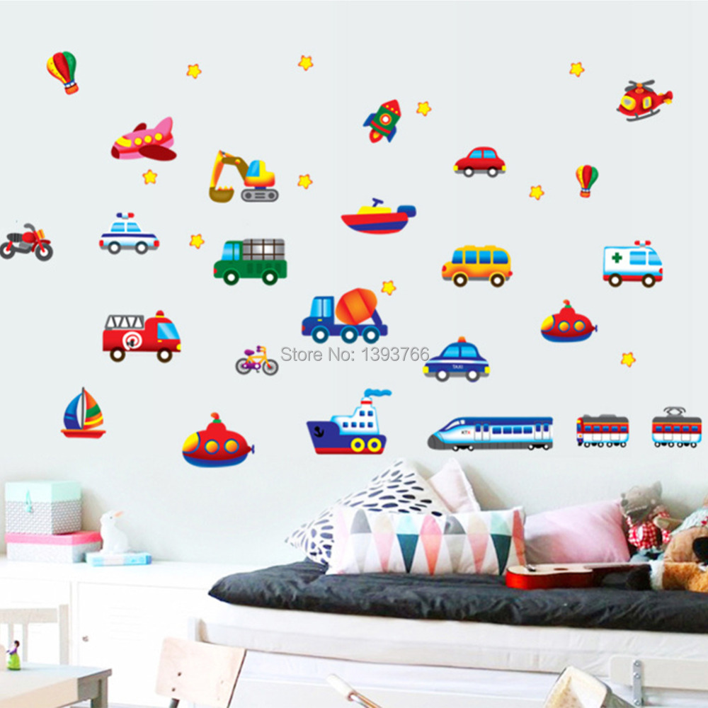 High Quality ... Kid Cartoon Car Plane Wall Stickers For Kidu0027s Room Wall Decals  Childrenu0027s Room Nursery Decorative Wall ... Awesome Ideas