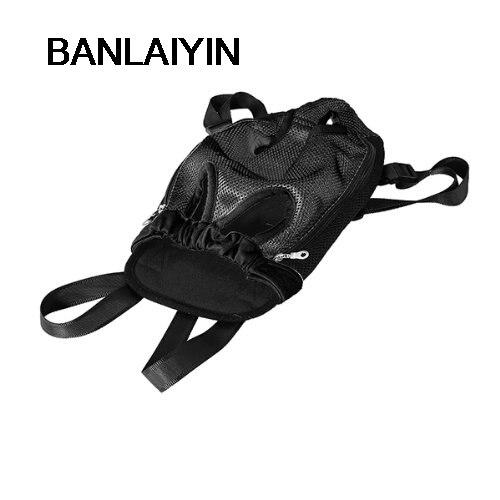 WholeTide 10* PLASTIC BAG BACKPACK WASHABLE FOR DOG BLACK SIZE L doglemi dm40050 l mesh cloth pet s dog chest belt black size l