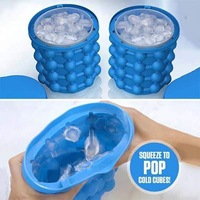 BEEMSK 1PCS silicone ice bucket cooling cold drink ice bucket ice container Saving Ice Cube Maker