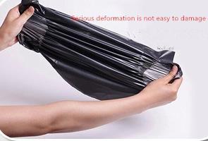 Купить с кэшбэком OMH wholesale Dark grey 10pcs PE New Science technology Waterproof clothing logistics Packaging bags Jewelry gift bag