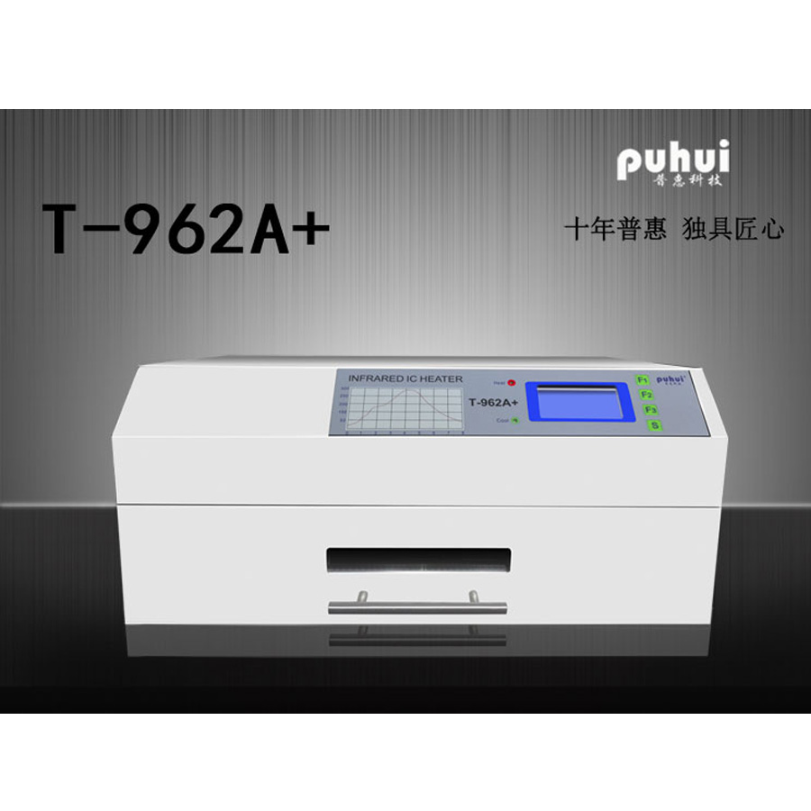 PUHUI T-962A + Four De Refusion Vague Infrarouge IC Chauffe-T962A + Four de Refusion BGA SMD SMT Rework Sation Nouveau Produit