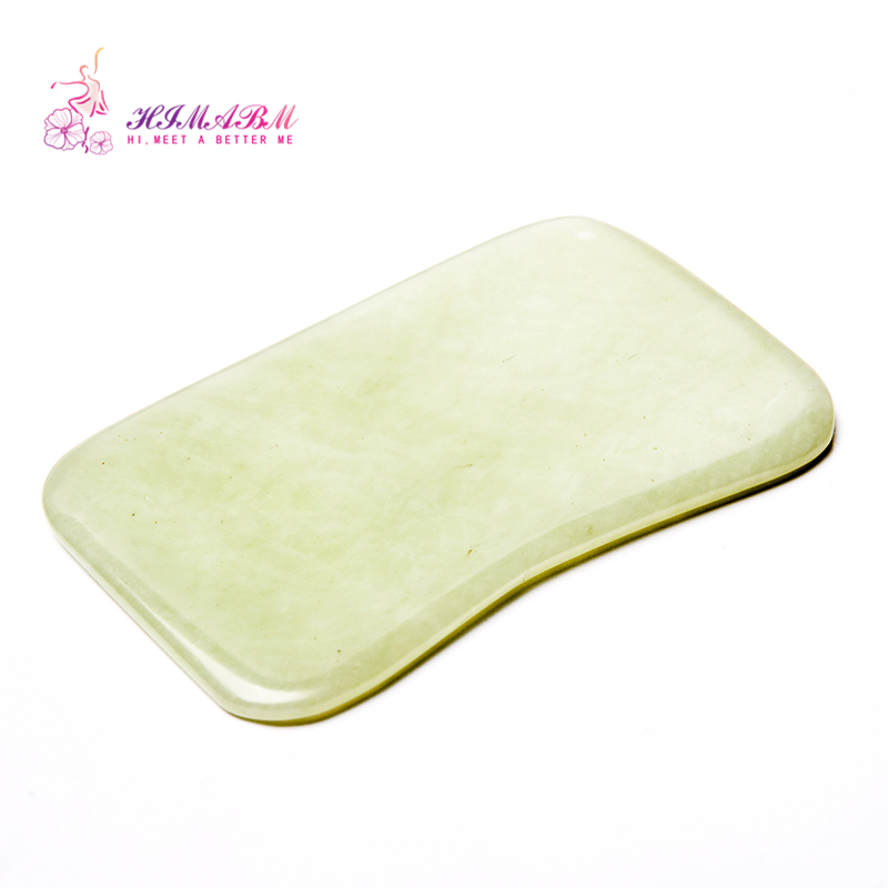 HIMABM 1 Pcs natural light green jade Guasha board massage tool facial treatment scraping tool for body massage health care шляпа bailey арт 70619bh sturges бежевый