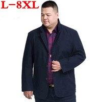 plus size 8XL 7XL New Arrival Brand Clothing Autumn Suit Blazer Men Fashion Slim Male Suits Casual Solid Color Masculine Blazer
