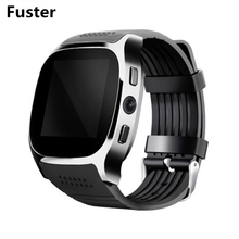 Fuster T8 Bluetooth Smart Watch Support SIM Card and Memory TF Card FM Radio with 0.3MP Camera Smartwatch Wristwatch