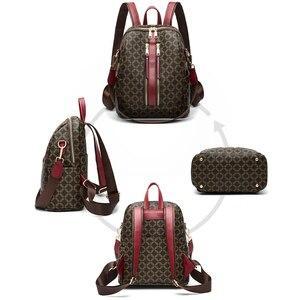 Image 5 - Sac à dos en cuir pour femmes, sacoche de styliste à épaule de marque, sacoche de voyage de luxe pour filles, 2020