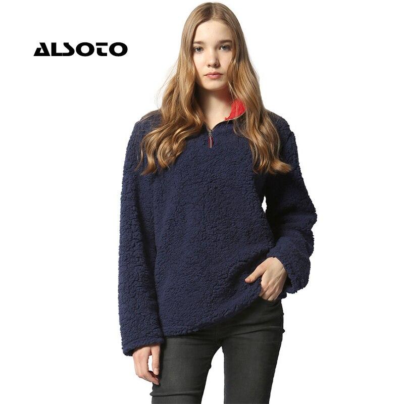 Alsoto Women Hoodies Sweatshirt Women Fashion Warmth Pullover Long Sleeve Hoodies Moletom Feminino Women Harajuku Outwear Hoodie