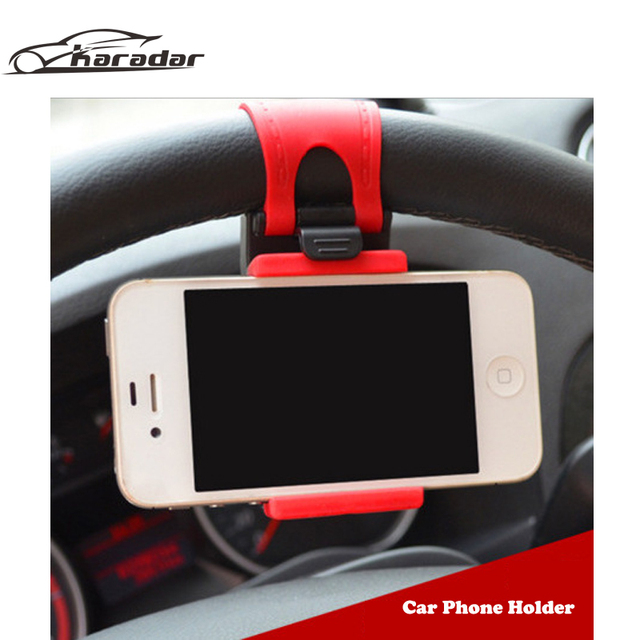 Universal Car Steering Wheel Holder for Phone/GPS Free Hand Stand Car Holder Support