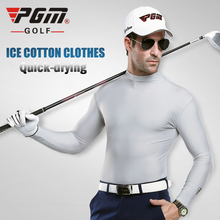 PGM ICE Anti-uv Sunscreen Mens Golf T Shirt Summer Long-sleeve Tshirt Polode Golf Pourhomme Polyester Viscose Underwear Clothing