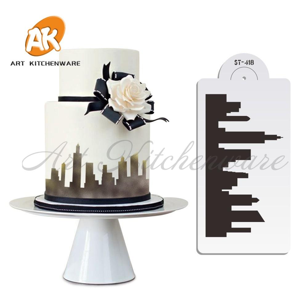 New York Skyline Torta za torte za kolače Bočna šablona Fondant - Kuhinja, blagovaonica i bar - Foto 2