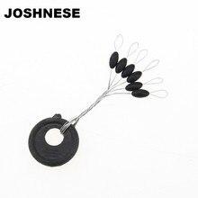 JOSHNESE 20Pcs/pack 6 in 1 Size L Black Rubber Oval Stopper Fishing Bobber Float, Free Shipping