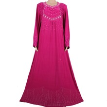 Muslim Abaya Kaftan Islamic Clothing for Women Beading Design Turkish Maxi Abaya in Dubai Kaftan Dress Purple MD772