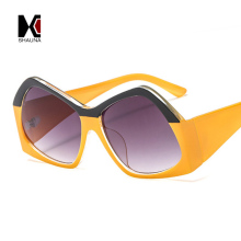 SHAUNA Newest Contrast Color Frame Women Sunglasses Brand Designer Mixed Color Gradient Square Glasses mixed print contrast binding tee