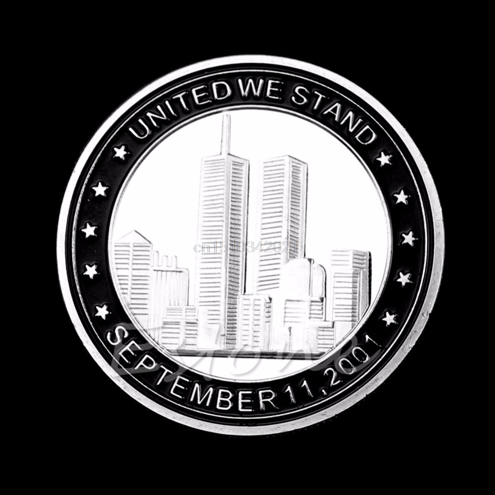Collectible Coin 9/11 Silverpläterad Tribute Coin United Vi står för minnesmyntsamling