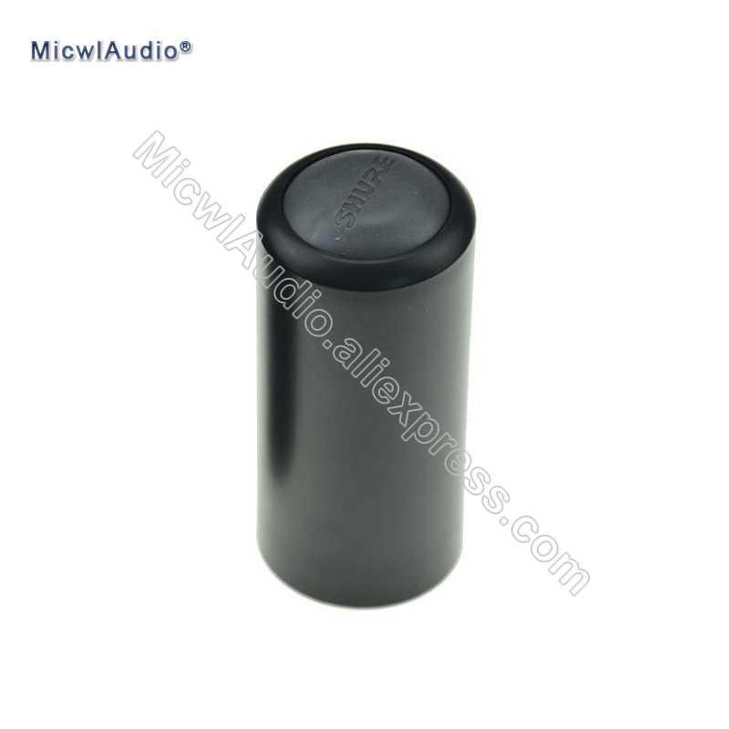キャップのネジ黒ハンドマイクカバーカップ Shure の PGX2 PGX4 SLX4 SLX2 BETA58 SM58 ワイヤレス交換 SLX PGX 1 個