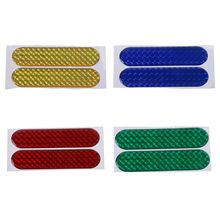 New 2 Pcs Car Door Sticker Decal Warning Tape Reflective Stickers Strips Car-styling 4 Colors Safety Mark Decor