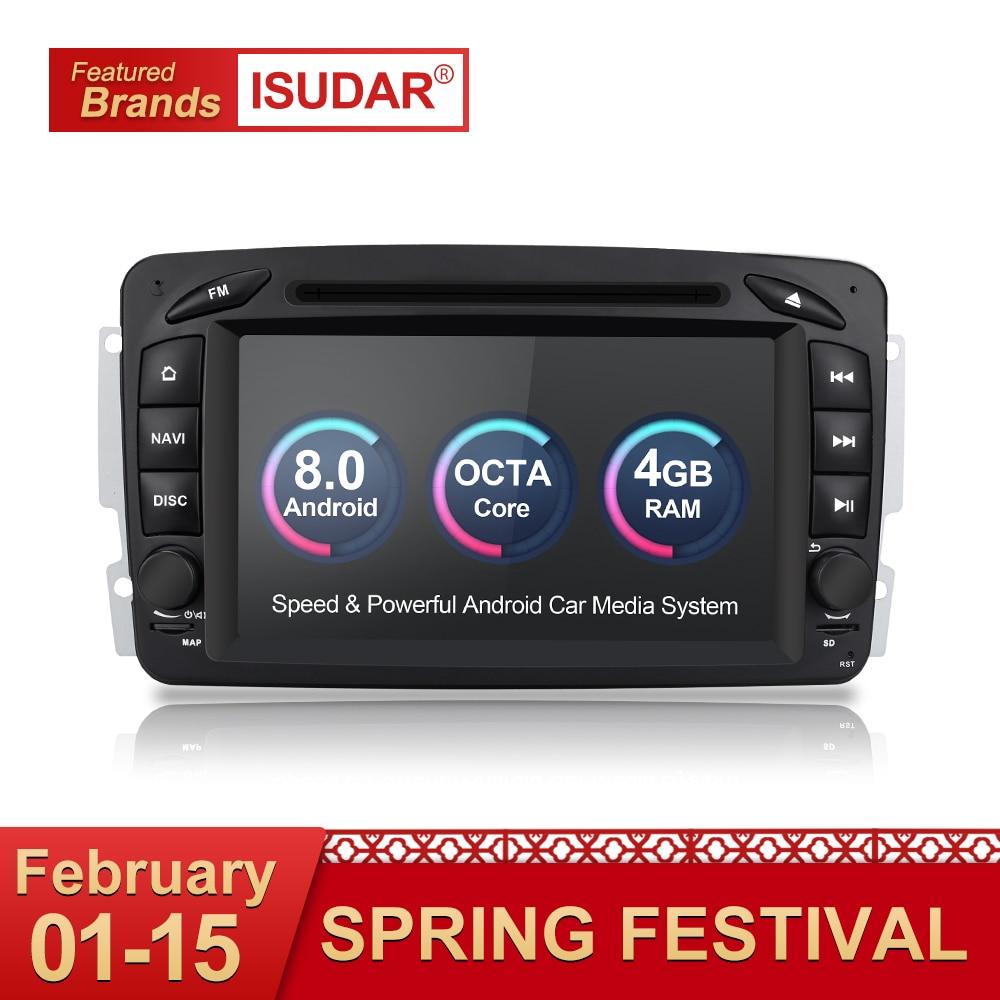 Isudar Auto Multimedia Player 2 Din Auto Radio GPS Android 8.0 Per Mercedes/Benz/CLK/W209/ vito/W639/Viano/Vito Canbus Autoradio FM