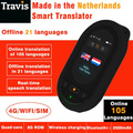 155 langues hors ligne traduction en ligne Travis 2.0 plus traducteur vocal Wifi Bluetooth 4G écran tactile traducteur intelligent