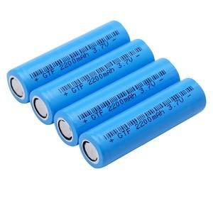 Image 3 - 20PCS 3.7V 2200mAh Original 18650 rechargeable li ion Battery For Flashlight electronic cigarette Power battery batteries
