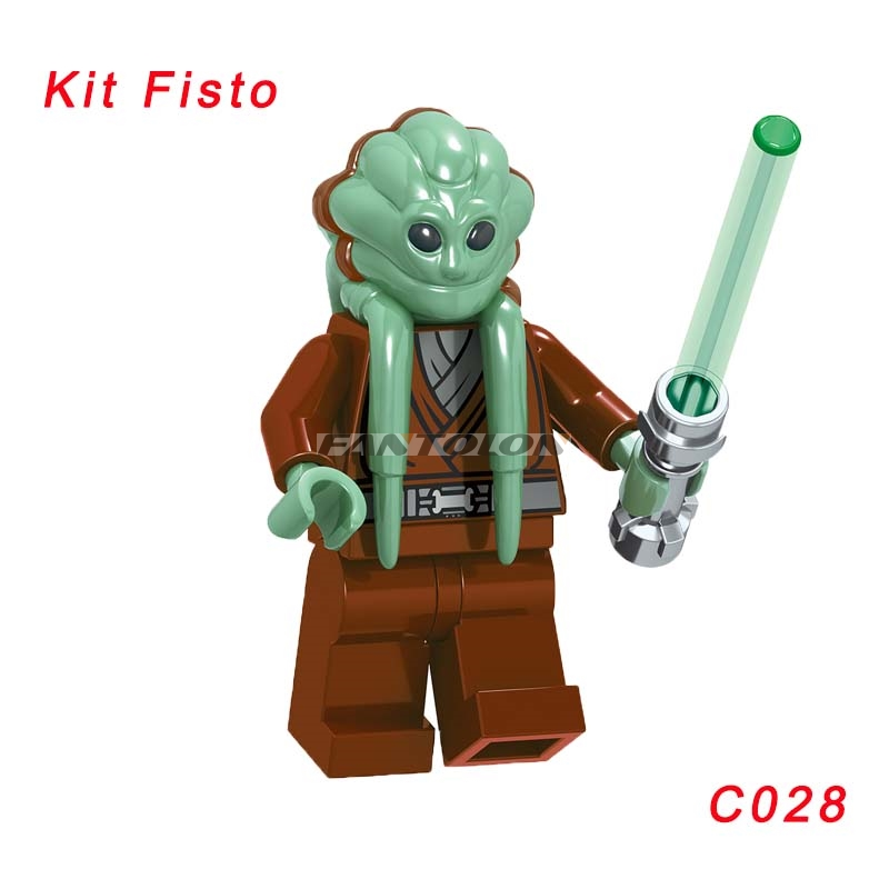 Kit Fisto With Lightsabers Star Wars From 9526 Shaak Ti Building Block Toys Super Heroes Figures Toys For Children C028