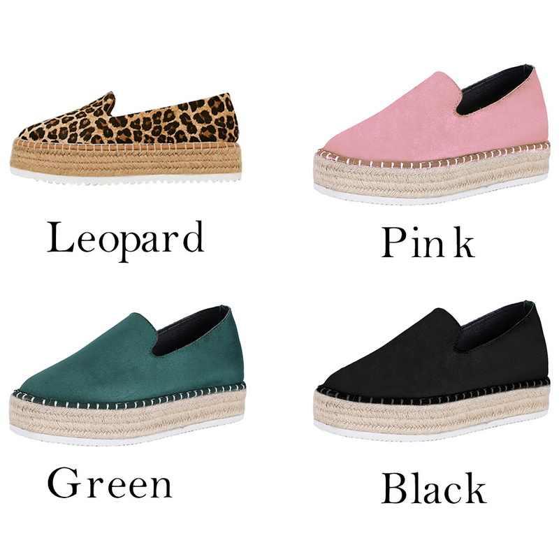 Oeak2019 Faux Süet Espadrilles Ayakkabı günlük mokasen ayakkabı Kadınlar Flats Rahat Bayanlar