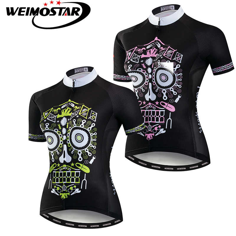 Detail Feedback Questions about Pink Skull Weimostar Cycling Jersey Women  mtb Ropa ciclismo Downhill Jersey Outdoor Sports Clothing Wear Tops on ... d4863fbe3