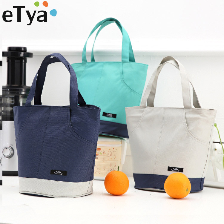 eTya Portable Lunch Bag Food Cooler Picnic Bags for Women Multifunction Thermal Lunch Box Kids Milk Bag Insulated Storage Tote