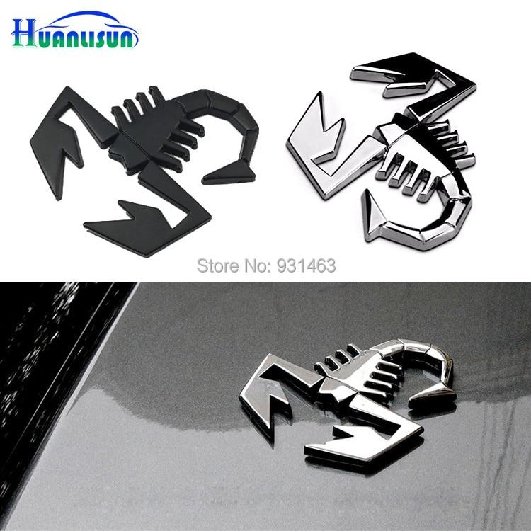 1pcs 3D Car Metal Adhesive Badge Emblem Decal Sticker scorpion for Fiat 500 Punto Bravo Stilo Panda Abarth 500 Logo Stickers emblem