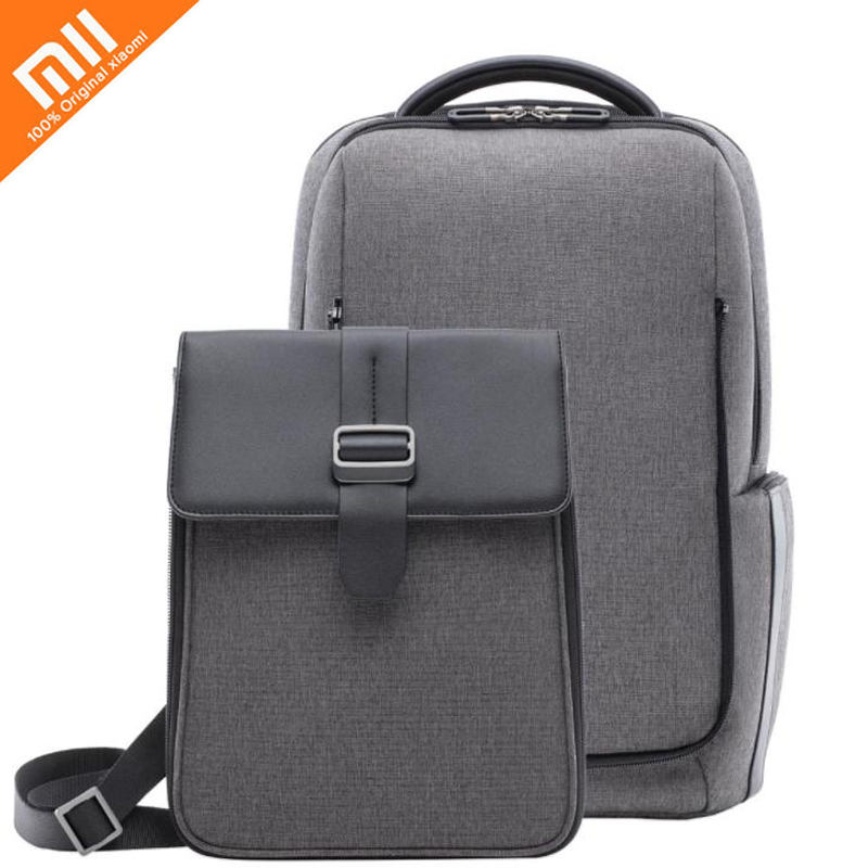 Original Xiaomi Commuting Backpack Removable Front Bag Big Capacity 15.6 inch Laptop Bag Anti-water Bussiness Travel BagOriginal Xiaomi Commuting Backpack Removable Front Bag Big Capacity 15.6 inch Laptop Bag Anti-water Bussiness Travel Bag