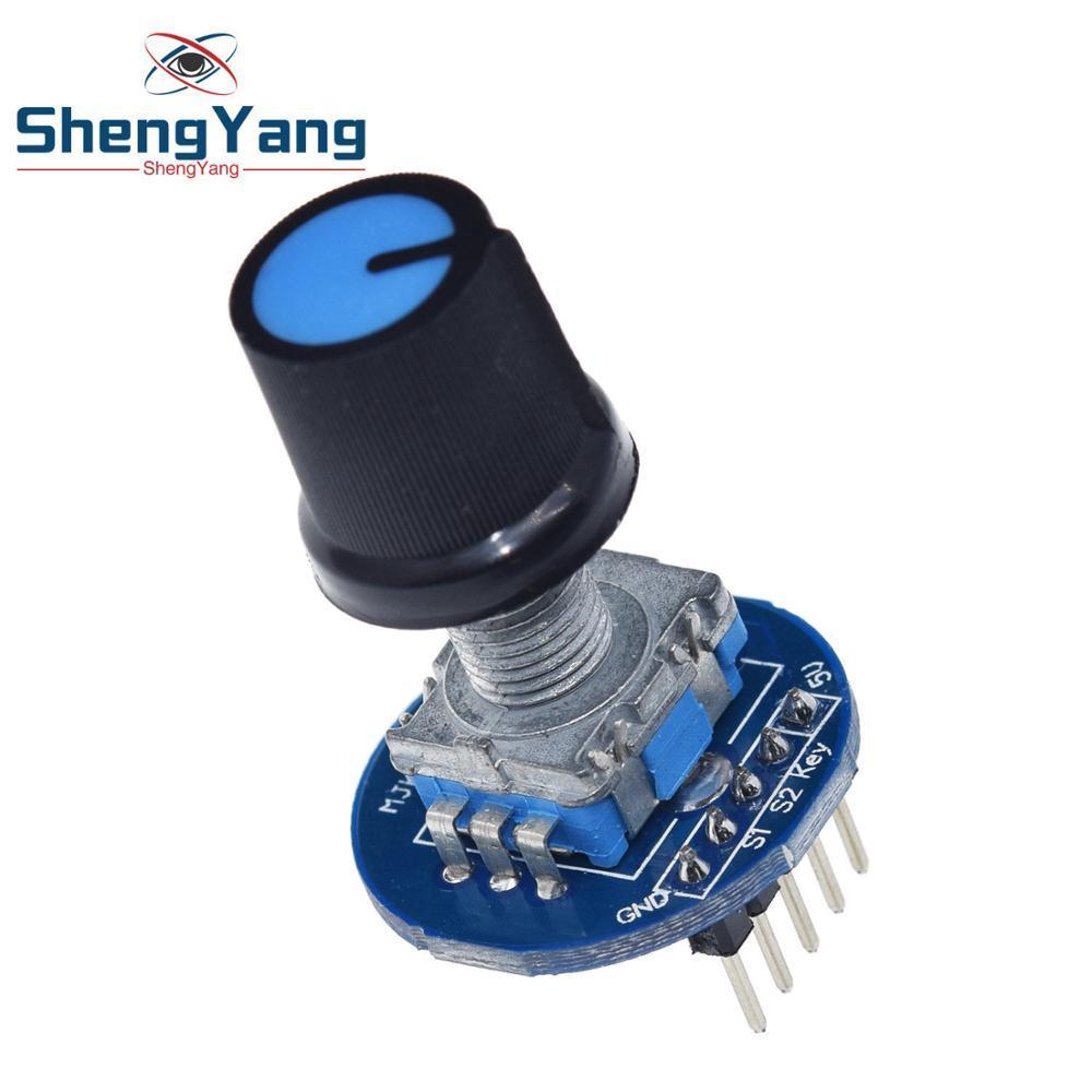 ShengYang codeur rotatif Module 5V brique capteur développement rond Audio rotatif potentiomètre bouton capuchon pour Arduino