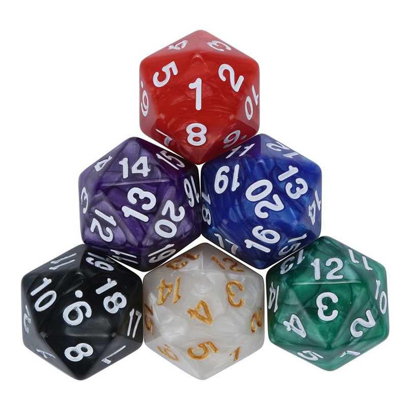 Digital Dice For TRPG Game Polyhedral D4-D20 Multi Sided Acrylic Dice A perfect gift 6/7/10pcs dice #2h07