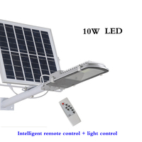 10 Вт Солнечный уличный свет уличный водонепроницаемый алюминиевый дорожный светильник интеллектуальное управление освещением дистанцион