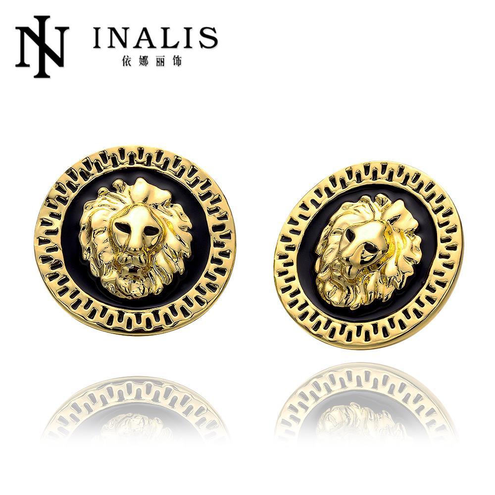 f80c94b1d3df E963-a al por mayor níquel libre antialérgico oro color Pendientes para las  mujeres Nueva joyería de moda