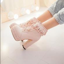 Lolita boots High heels boots Lace shoes A