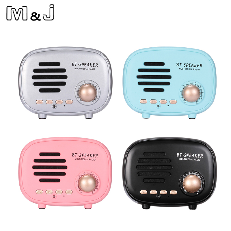 New American-Style Retro Bluetooth Speaker Q108 Protable Vintage Mini Speaker FM Radio Music Stereo Player For MobilePhone PC